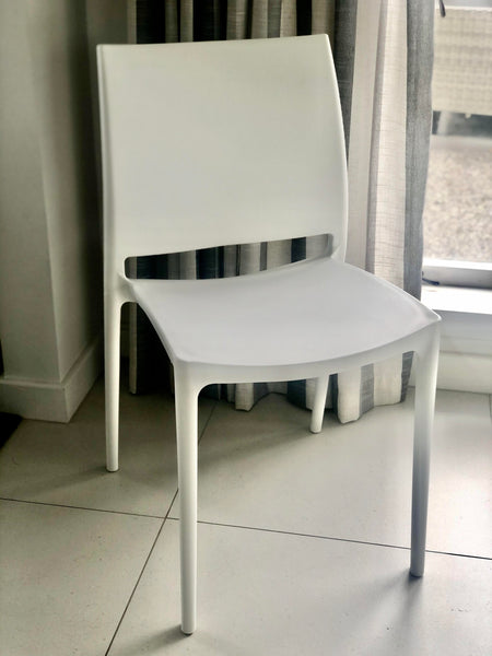 Rossini Indoor Outdoor PVC Dining Chair - White