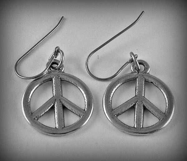 Peace Symbol Charm/ Earrings/Keyring/ Pendant