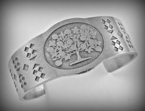 Shaker Tree of Life Pewter Cuff Bracelet