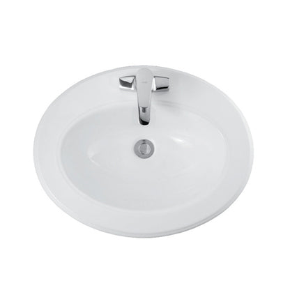 White Oval Art Vanity Basin