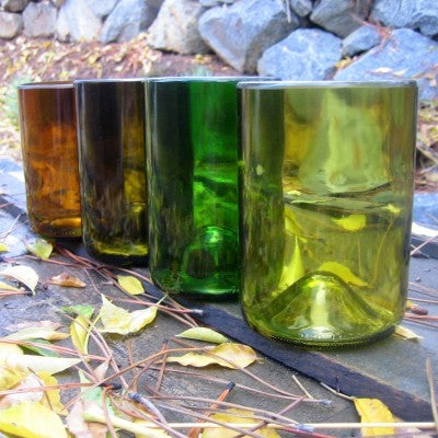 Recycled Wine Bottle Glasses by Bottled Up