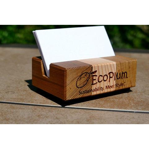 Business card holder available at the EcoPlum Business Gifts store
