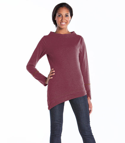 LUR Apparel Azalea Boat Neck Top - MERLOT
