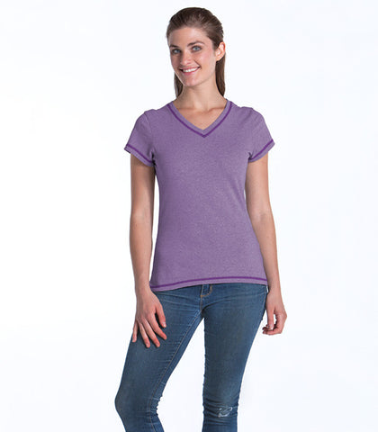 Alpine Fitted V-Neck Top