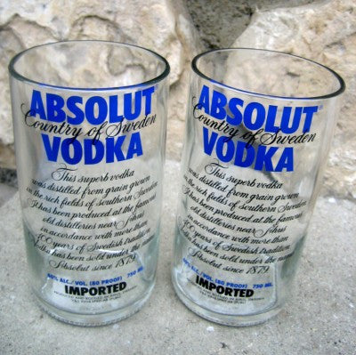 Absolut Original Flavor Vodka 30oz  Tumbler - Set of 4
