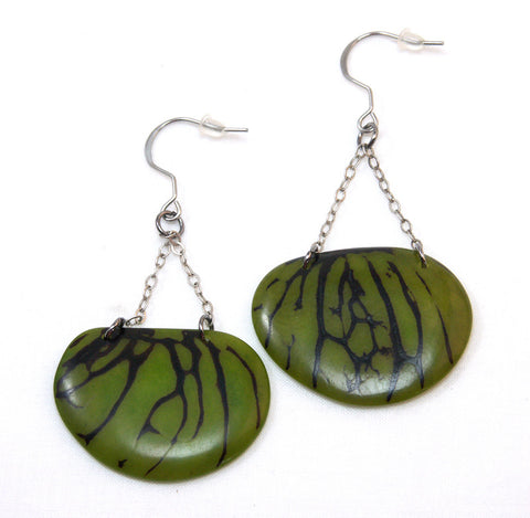Aphrodite Earrings - Avocado
