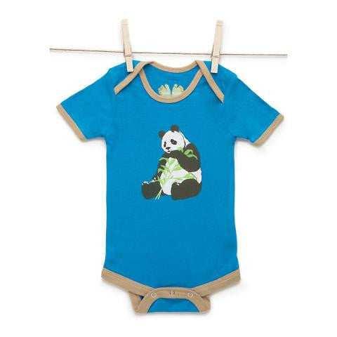 Sami Onesie Panda made from organically grown bamboo and cotton