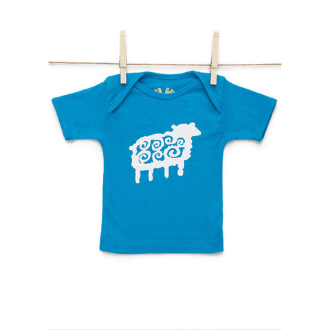 Sami Lap Tee Counting Sheep  Blue