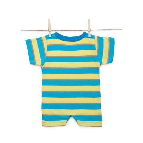 Sami Baby Tomte Stripe Jumpsuit Yellow Blue Tan