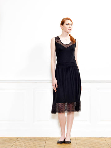 Sweetheart Neck Bamboo Jersey Lace Dress