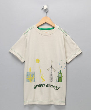 Light Grey 'Green Energy' Organic Tee - Boys