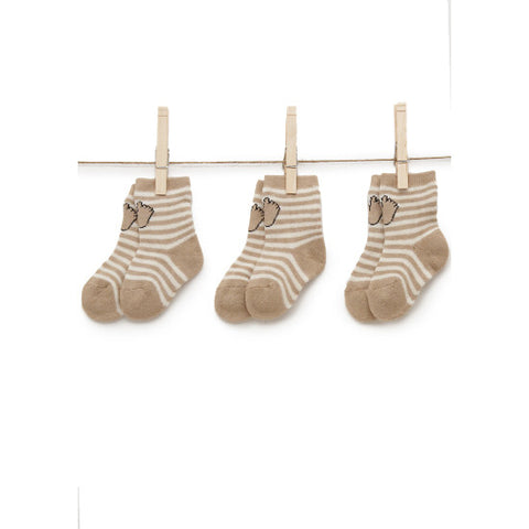 Sami Baby Stripe Socks Three Pair