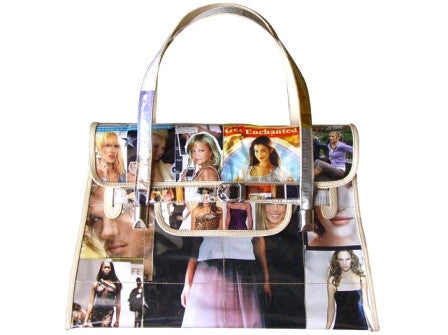 """Jenna"" Recycled Magazine Handbag"