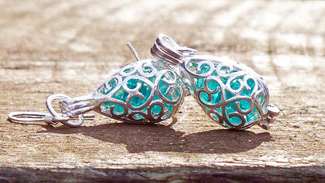 Silver Filigree Teardrop Earrings