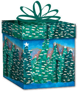 100% Recycled Wrapping Paper - Christmas Trees