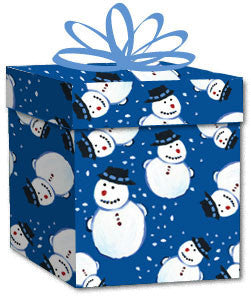 100% Recycled Wrapping Paper - Snowman