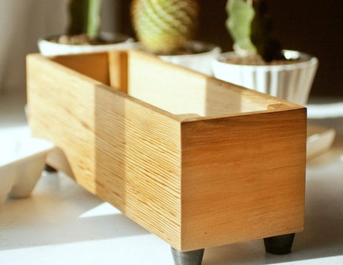 Herb Planter, Cedar Planter, Indoor Herb Planter Box, Window Herb Planter