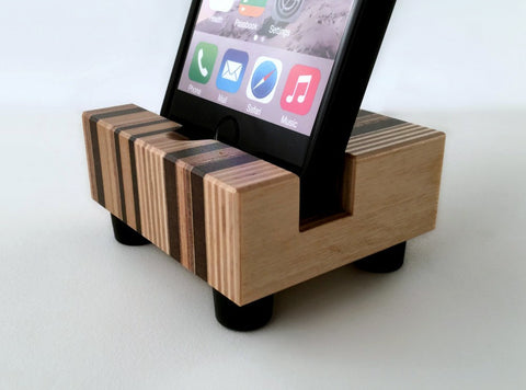 iPhone 5, iPhone 6 Docking Station, iPhone Stand in Mid Century Style Wood