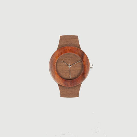 Makore and Red Sanders Wooden Watch - choose face