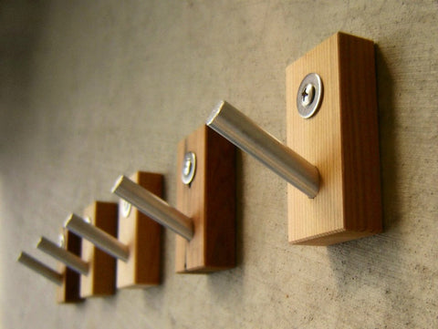 Multipurpose Wood and Metal Wall Hooks