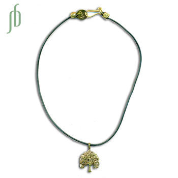 Bodhi Tree Rubber Necklace