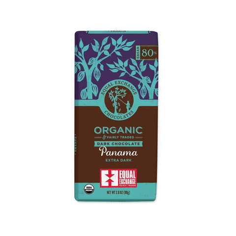 Organic Panama Extra Dark Chocolate (80% Cacao) - 12 Pack