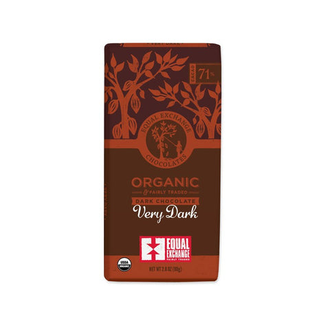 Organic Very Dark Chocolate (71% Cacao) - 12 Pack