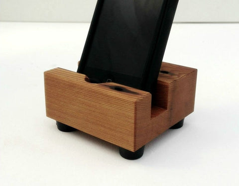 Smartphone Docking Station in Recycled Wood