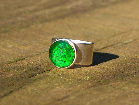 Recycled Glass Ring- Emerald