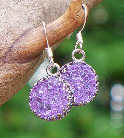Druzy Glass Earrings