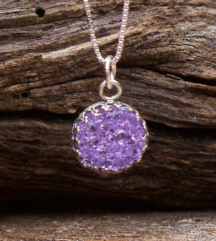 Druzy Glass Necklace
