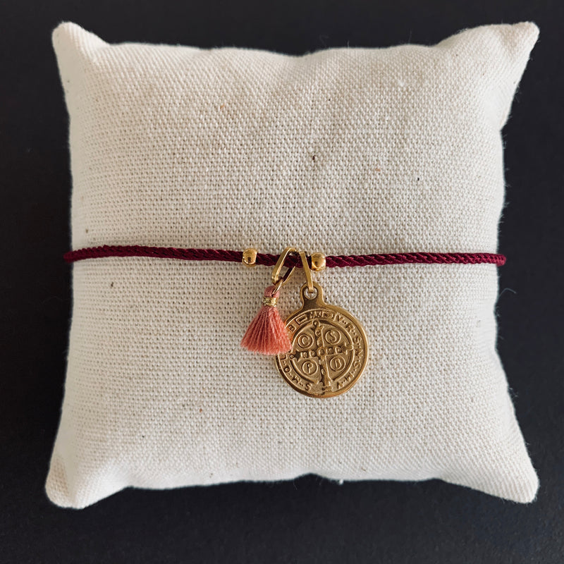 Feel Blessed - Coin - Hanging - Burgundy