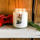 Horses Love Candycanes Candle