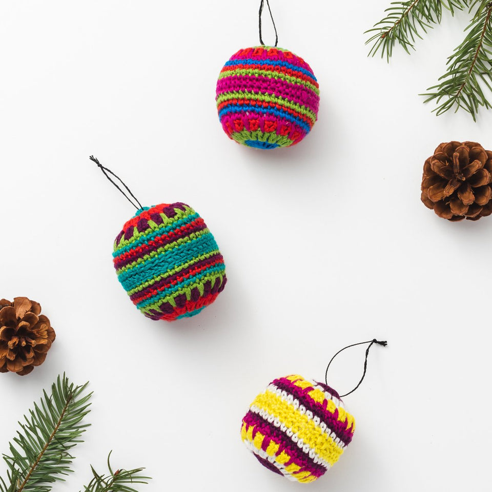 Mulitcolored Ornament Set