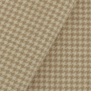 Camel Houndstooth Wool Cloth