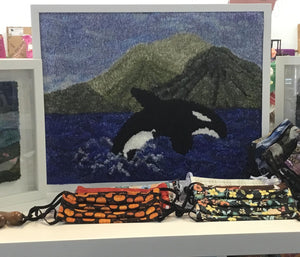 Leaping Orca Rug Hooking Pattern