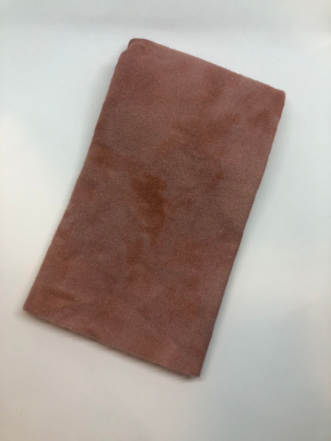 Hand dyed Wool Cloth - Redish Brown