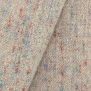 Soft Tan and Heather Fleck 100% Wool Cloth