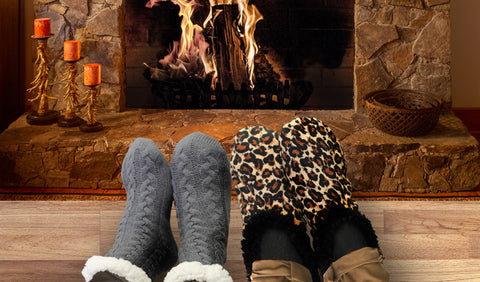 Winter footwear mens and womens slipper and socks from Aerial Australia