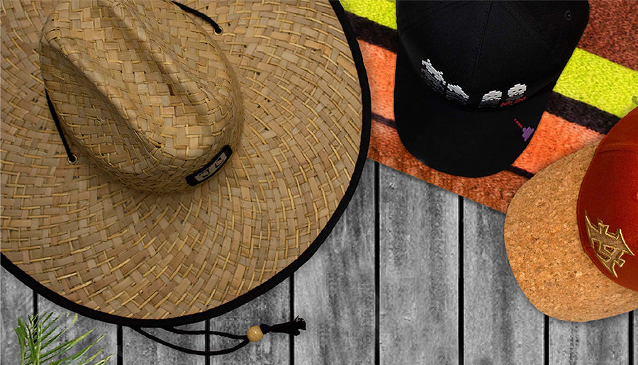 Summer headwear caps and wide brim hats from Aerial Australia
