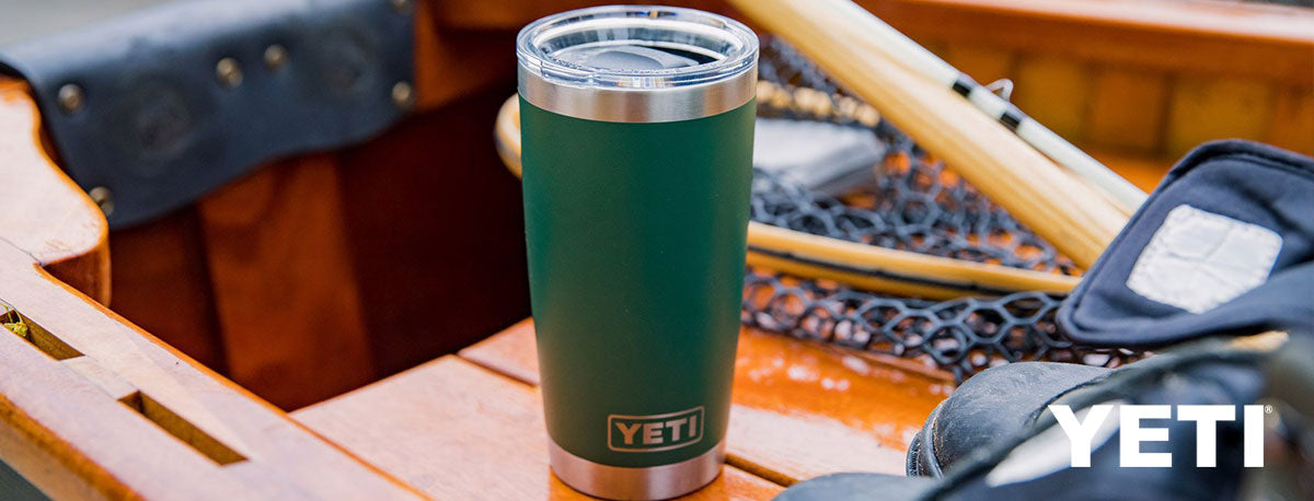 yeti cup on a boat