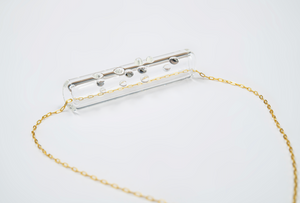 "Clear Braille Pendant ""LOVE"""