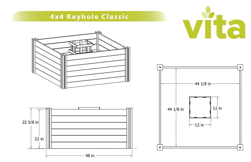 CLASSIC 4x4 Keyhole Composting Garden