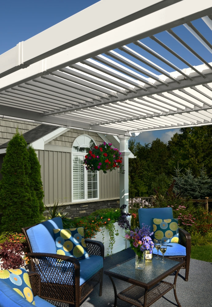 10x10 Avalon Louvered Pergola