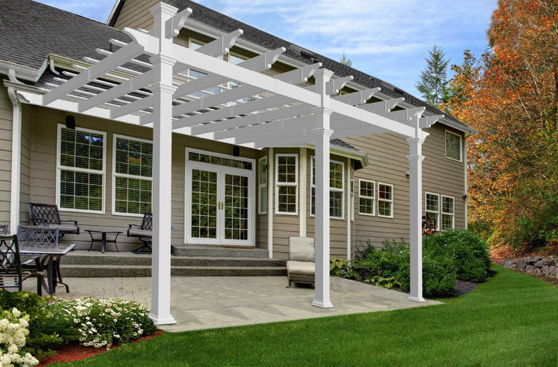 12x16 Valencia Attached Pergola
