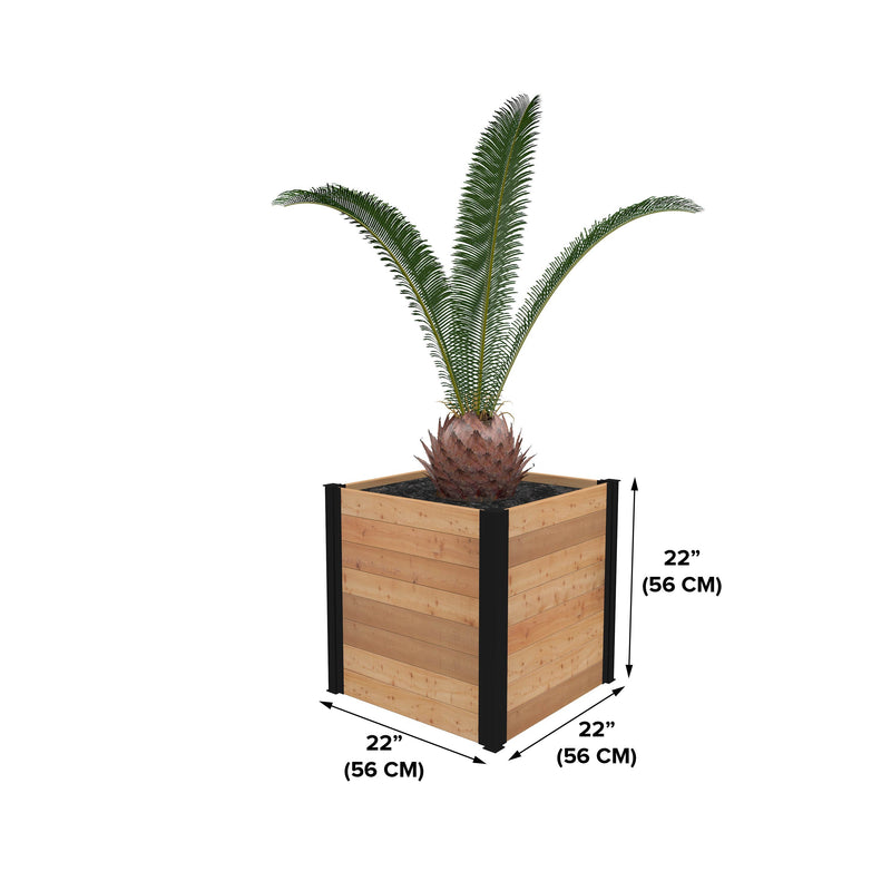 "Mezza 22"" Cube Planter"