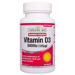 Natures Aid Vitamin D3 5000iu (125ug) High Strength