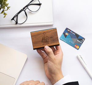 Personalized Wooden Credit Card Holder