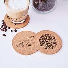 Load image into Gallery viewer, Personalized Cork Coasters – Set of 6