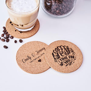 Personalized Cork Coasters – Set of 6